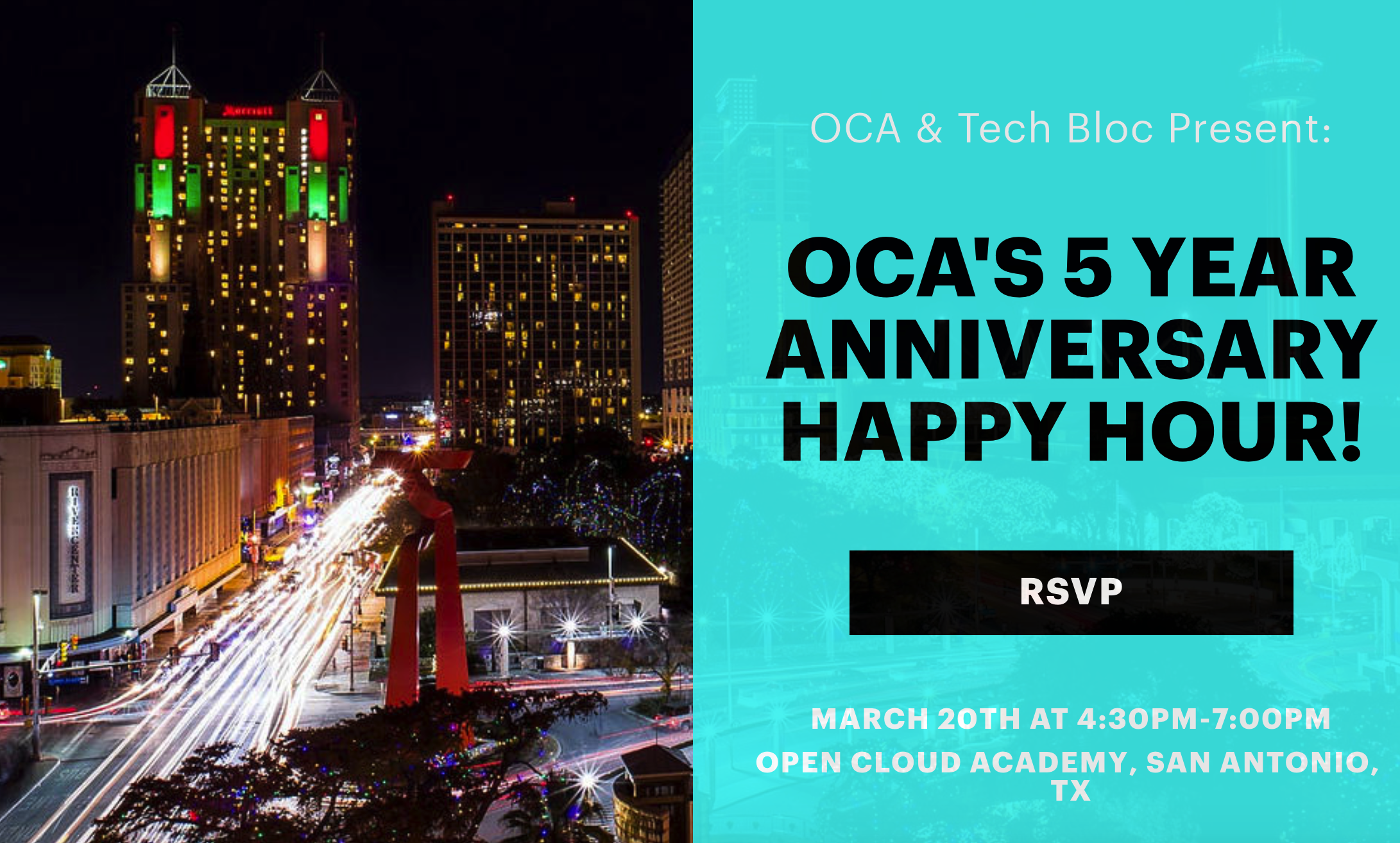 #Tech2sDay Meetup: Celebrating OCA's 5yr Anniversary Celebration!